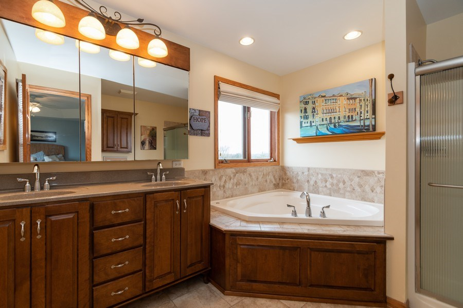 Real Estate Photography - 24410 S. Pine Ridge Drive, Monee, IL, 60449 - Master Bathroom