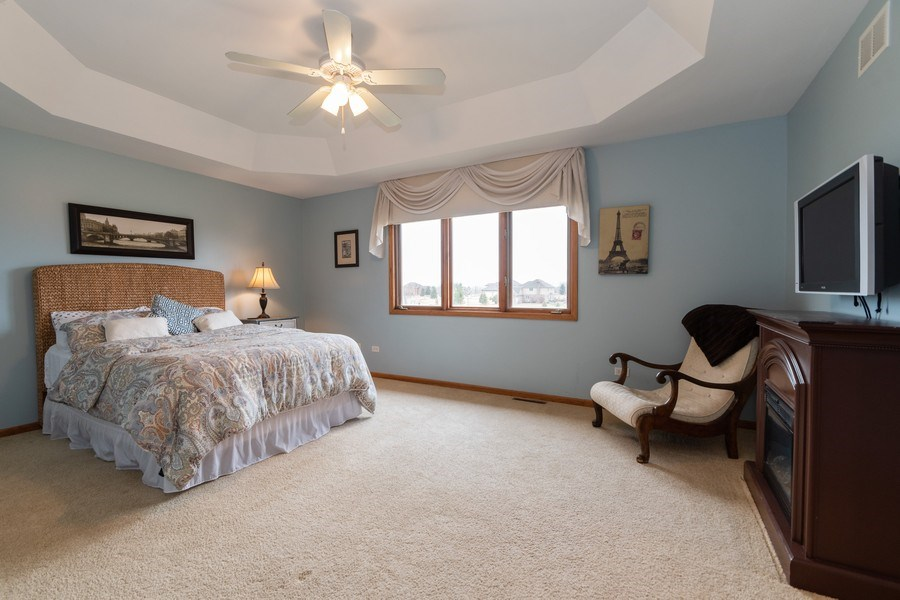 Real Estate Photography - 24410 S. Pine Ridge Drive, Monee, IL, 60449 - Master Bedroom