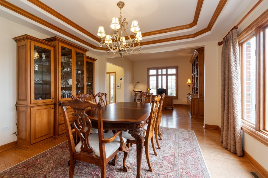 Real Estate Photography - 24410 S. Pine Ridge Drive, Monee, IL, 60449 - Dining Area