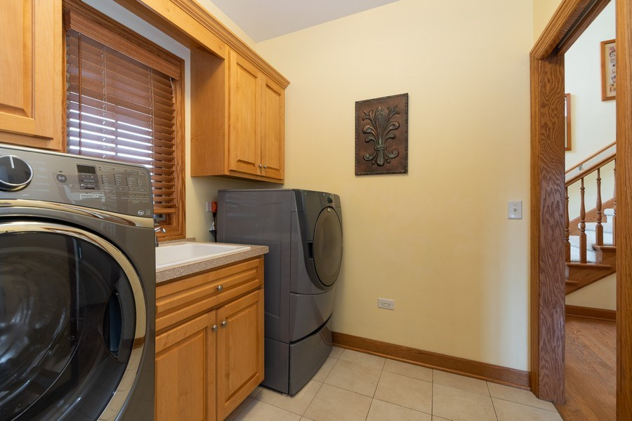 Real Estate Photography - 24410 S. Pine Ridge Drive, Monee, IL, 60449 - Laundry Room