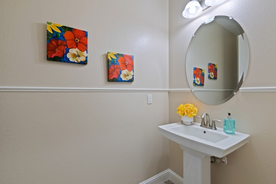 Real Estate Photography - 4367 Cherico Ln, Dublin, CA, 94568 - Powder bath on main level