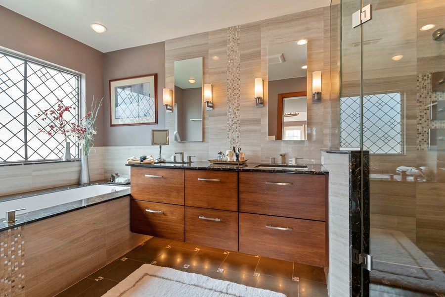 Real Estate Photography - 1510 Laverne Avenue, Park Ridge, IL, 60068 - Master Bathroom