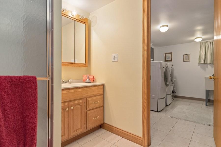 Real Estate Photography - 1510 Laverne Avenue, Park Ridge, IL, 60068 - LL Bath and Laundry Room
