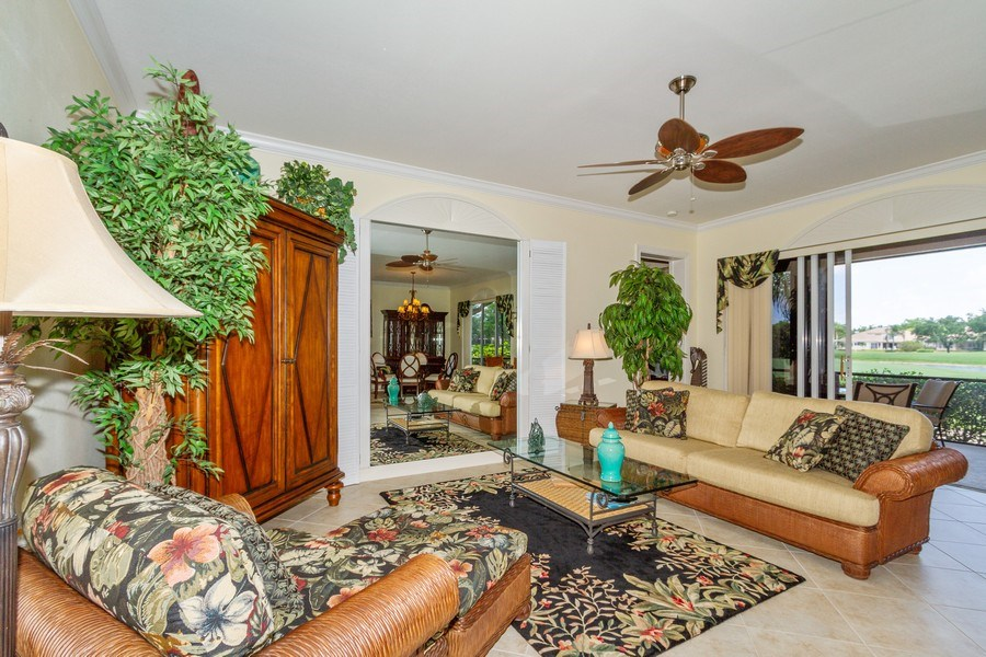 Real Estate Photography - 806 Regency Reserve Circle #902, Naples, FL, 34119 - Spacious Living Room
