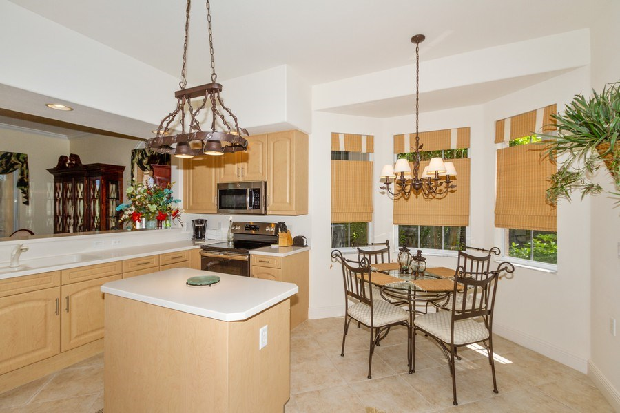 Real Estate Photography - 806 Regency Reserve Circle #902, Naples, FL, 34119 - Large Eat-In Kitchen
