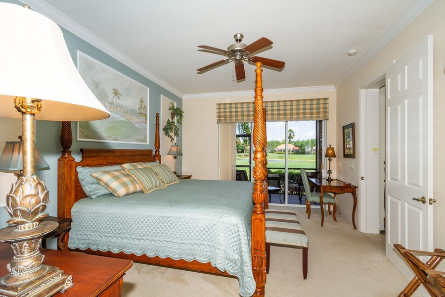 Real Estate Photography - 806 Regency Reserve Circle #902, Naples, FL, 34119 - Master Bedroom with Fairway View