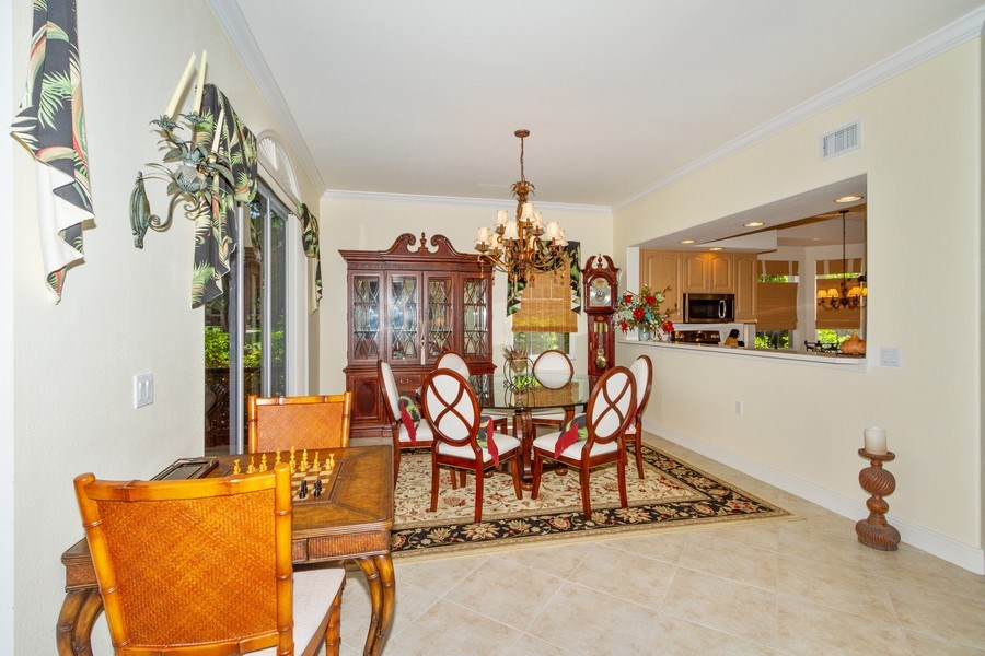 Real Estate Photography - 806 Regency Reserve Circle #902, Naples, FL, 34119 - Dining Room