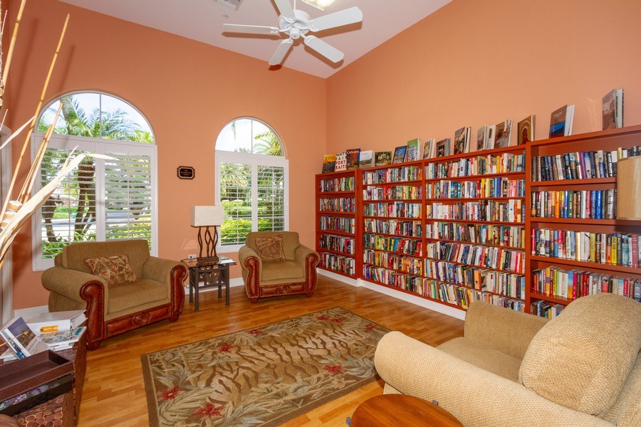 Real Estate Photography - 806 Regency Reserve Circle #902, Naples, FL, 34119 - Resident Clubhouse Library Adjacent to Full Exerci