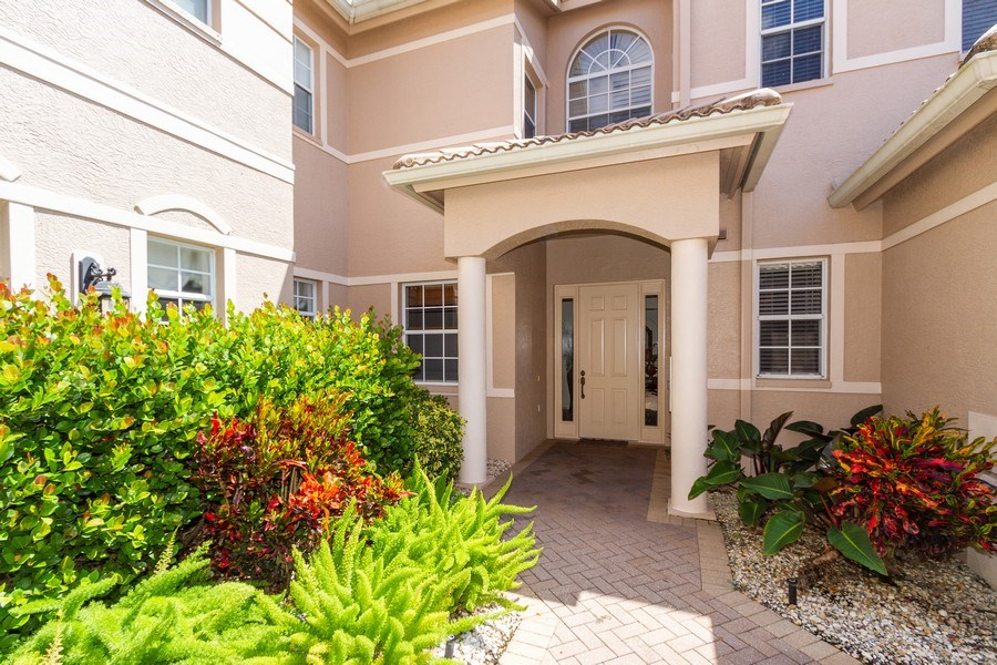 Real Estate Photography - 806 Regency Reserve Circle #902, Naples, FL, 34119 - Private Covered Entrance