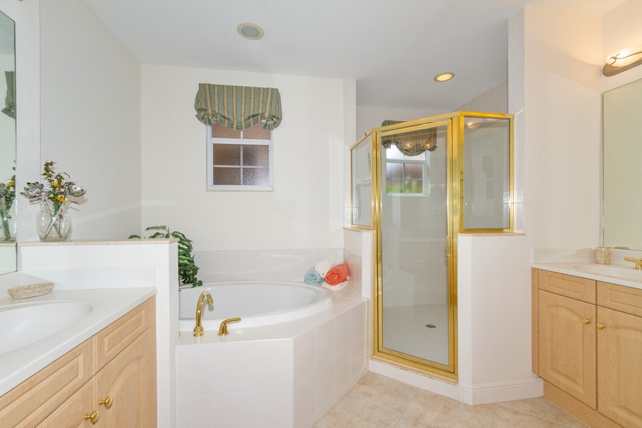 Real Estate Photography - 806 Regency Reserve Circle #902, Naples, FL, 34119 - Master Bathroom with Garden Tub, Oversized Shower,