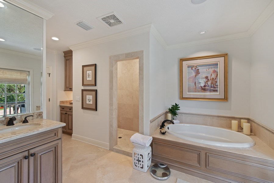 Real Estate Photography - 1590 Woodland Ave, Winter Park, FL, 32789 - Master Bathroom