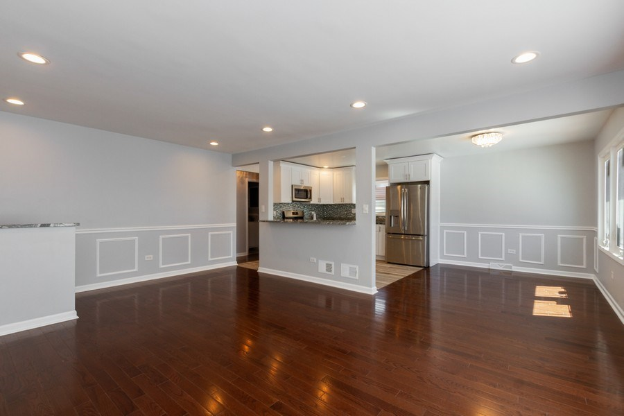 Real Estate Photography - 1038 W 109th St, Chicago, IL, 60643 - Kitchen / Living Room