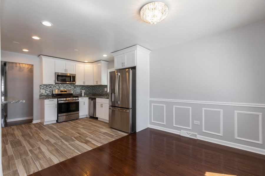 Real Estate Photography - 1038 W 109th St, Chicago, IL, 60643 - Kitchen / Dining Room