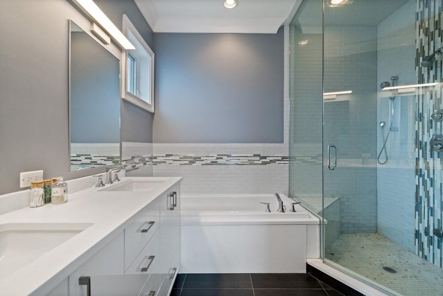 Real Estate Photography - 722 W. Aldine #4W, Chicago, IL, 60657 - Master Bathroom