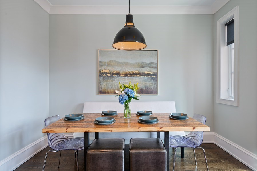 Real Estate Photography - 722 W. Aldine #4W, Chicago, IL, 60657 - Dining Room