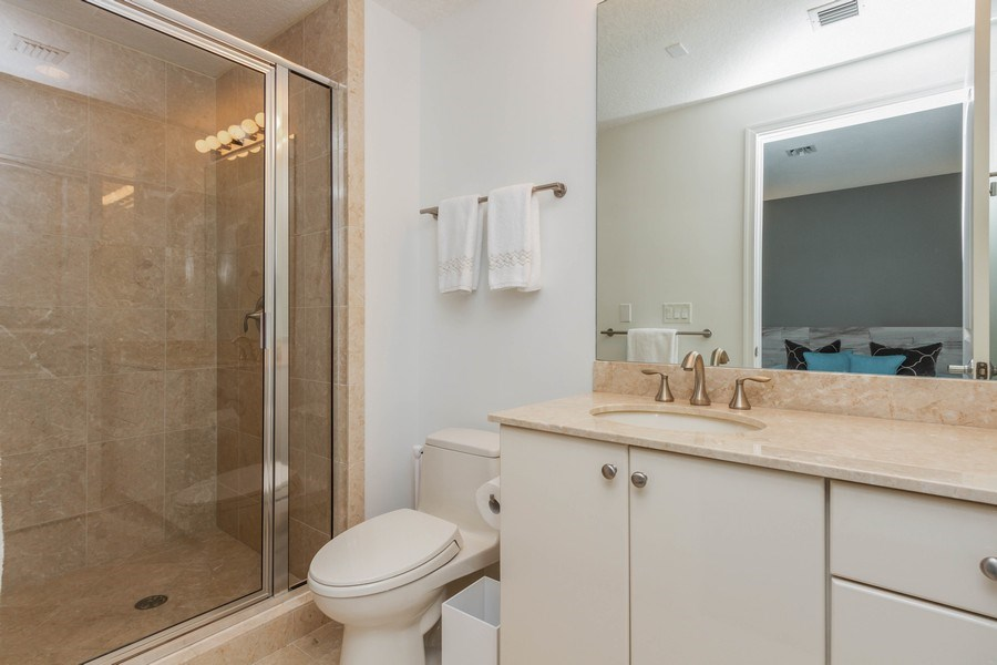 Real Estate Photography - 701 S. Olive Avenue, Unit 119, West Palm Beach, FL, 33401 - Master Bathroom