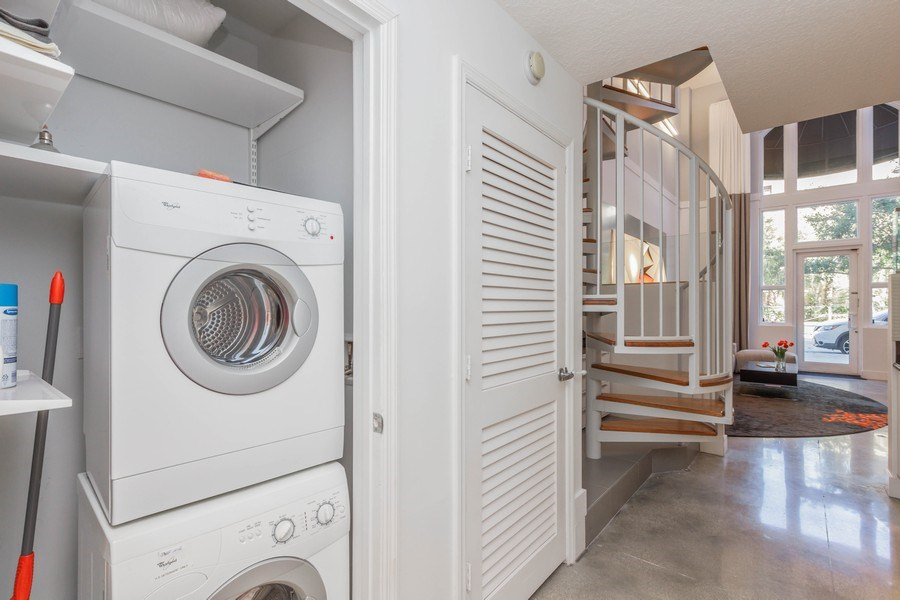 Real Estate Photography - 701 S. Olive Avenue, Unit 119, West Palm Beach, FL, 33401 - Laundry Room