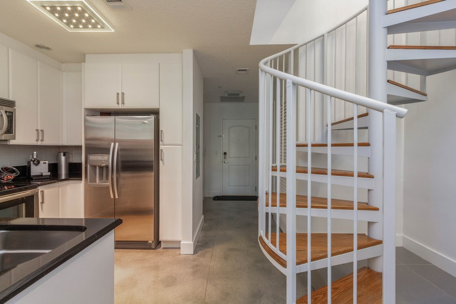 Real Estate Photography - 701 S. Olive Avenue, Unit 119, West Palm Beach, FL, 33401 - Staircase