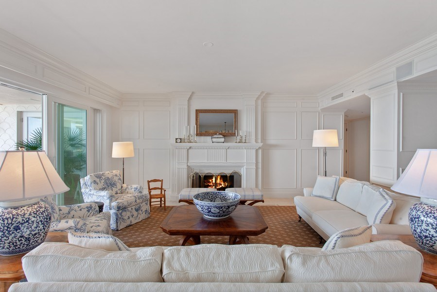 Real Estate Photography - 7765 Fisher Island Dr, Miami Beach, FL, 33109 - Living Room