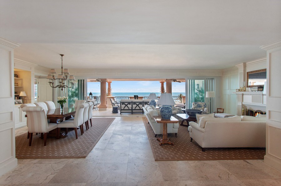 Real Estate Photography - 7765 Fisher Island Dr, Miami Beach, FL, 33109 - Living / Dining Area