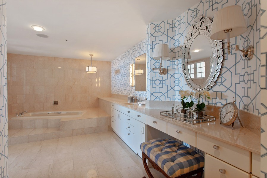 Real Estate Photography - 7765 Fisher Island Dr, Miami Beach, FL, 33109 - Master Bathroom