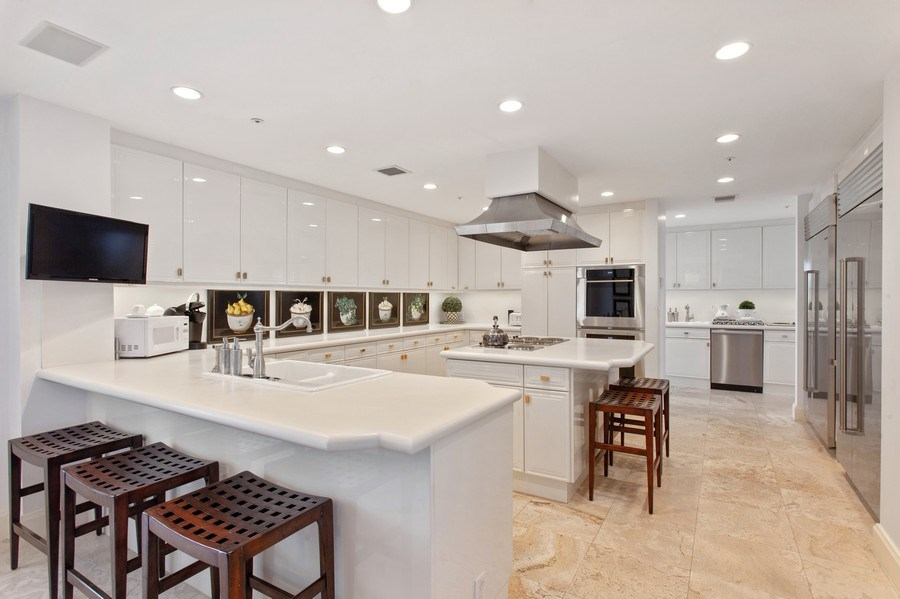 Real Estate Photography - 7765 Fisher Island Dr, Miami Beach, FL, 33109 - Kitchen