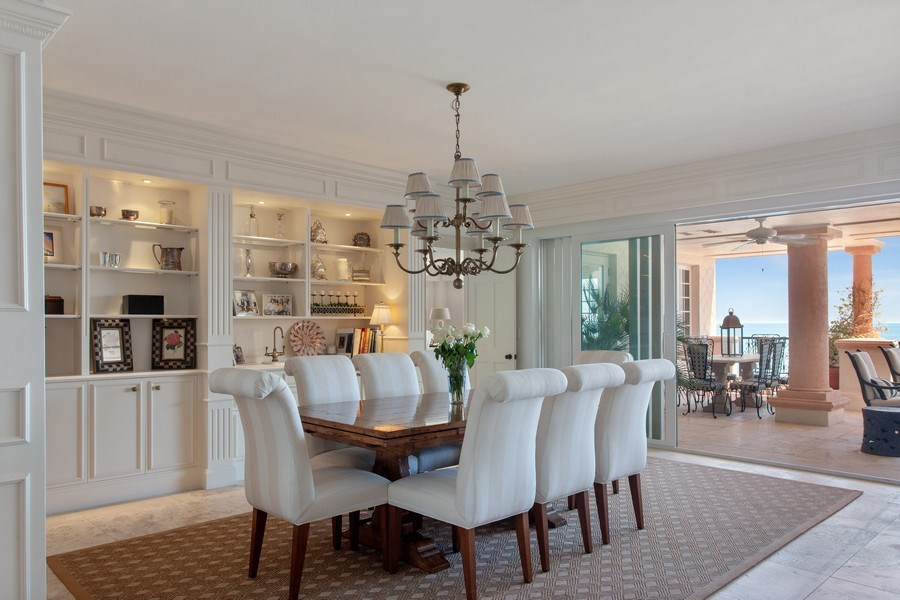 Real Estate Photography - 7765 Fisher Island Dr, Miami Beach, FL, 33109 - Dining Area