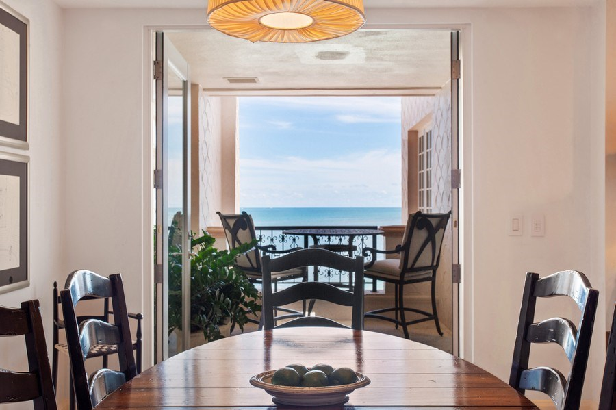 Real Estate Photography - 7765 Fisher Island Dr, Miami Beach, FL, 33109 - Breakfast Room Terrace