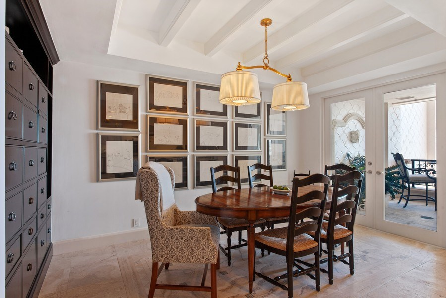 Real Estate Photography - 7765 Fisher Island Dr, Miami Beach, FL, 33109 - Breakfast Room
