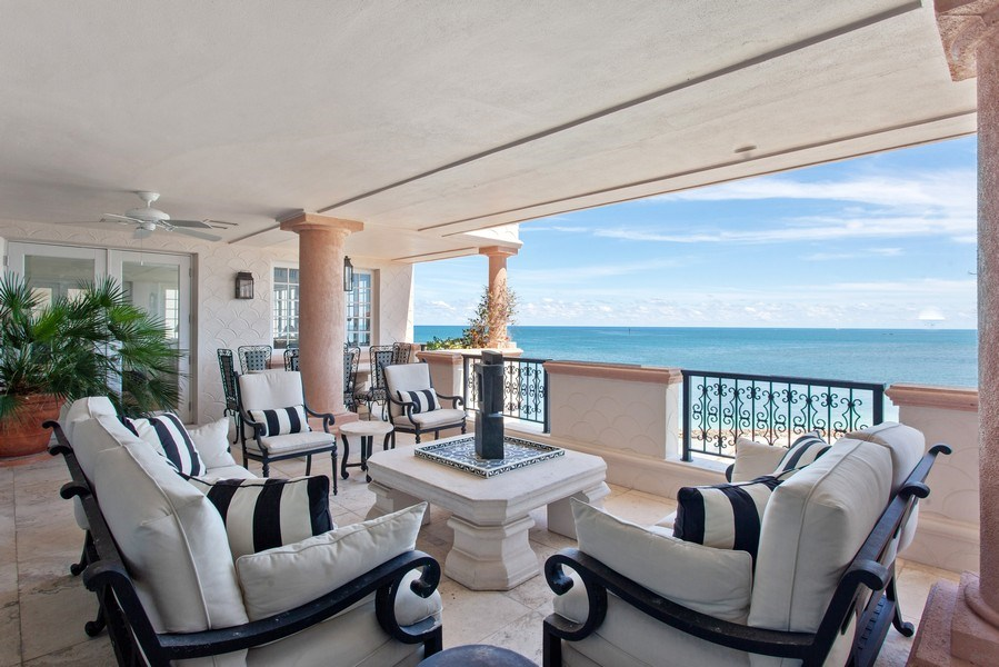 Real Estate Photography - 7765 Fisher Island Dr, Miami Beach, FL, 33109 - Terrace