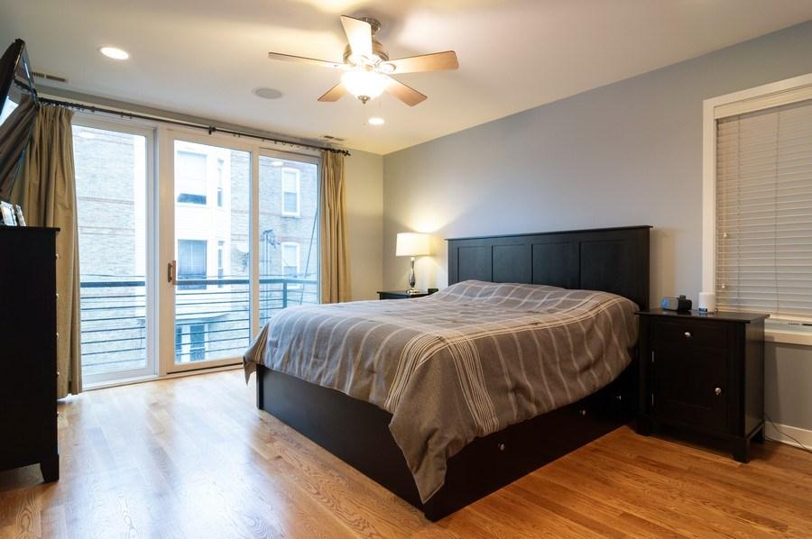 Real Estate Photography - 1506 W Grand Ave, 2E, Chicago, IL, 60642 - Master Bedroom