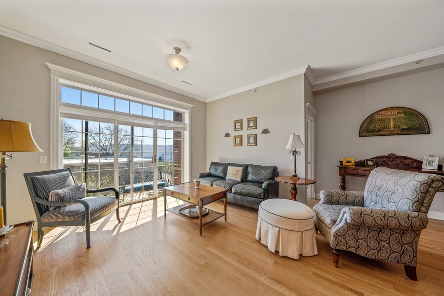 Real Estate Photography - 1021 Peterson, Unit 306, Park Ridge, IL, 60068 - Living Room