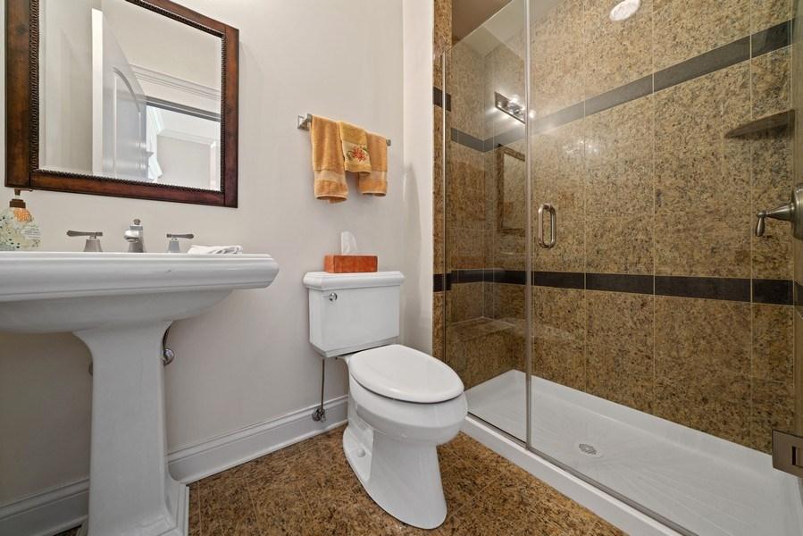 Real Estate Photography - 1021 Peterson, Unit 306, Park Ridge, IL, 60068 - 2nd Bathroom