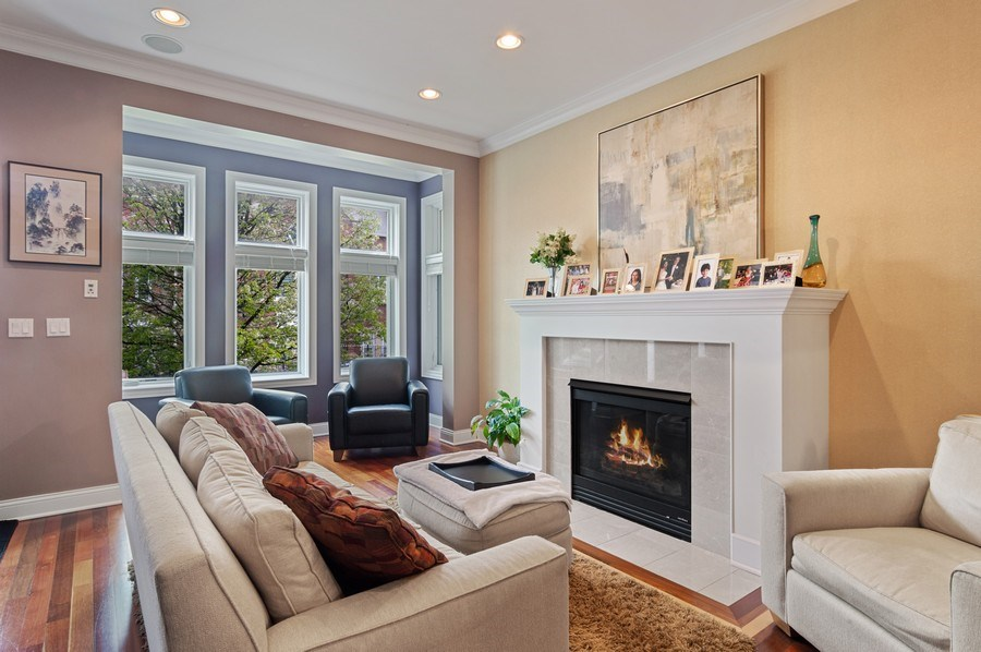 Real Estate Photography - 2606 N Kimball Ave, Chicago, IL, 60647 - Living Room