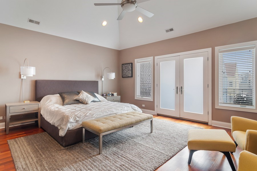 Real Estate Photography - 2606 N Kimball Ave, Chicago, IL, 60647 - Master Bedroom