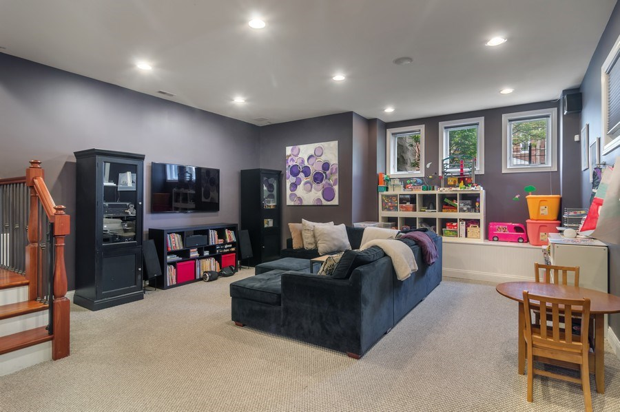 Real Estate Photography - 2606 N Kimball Ave, Chicago, IL, 60647 - Entertainment Room