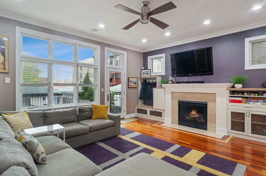 Real Estate Photography - 2606 N Kimball Ave, Chicago, IL, 60647 - Family Room