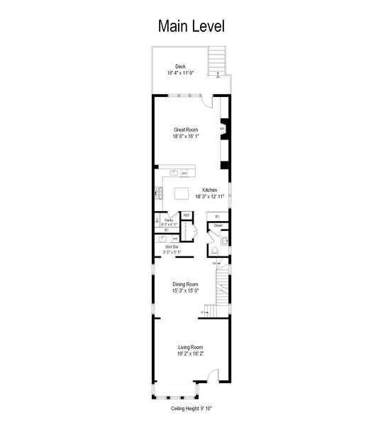 Real Estate Photography - 2606 N Kimball Ave, Chicago, IL, 60647 - Floor Plan