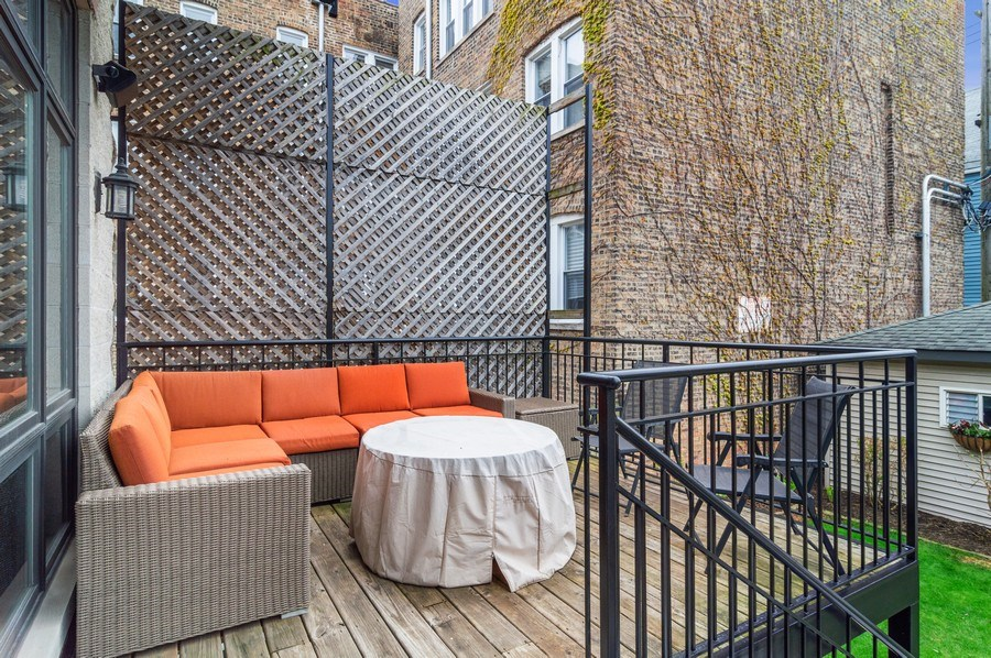 Real Estate Photography - 2606 N Kimball Ave, Chicago, IL, 60647 - Deck