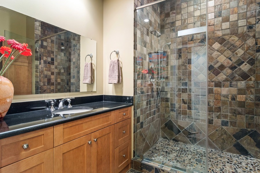 Real Estate Photography - 2606 N Kimball Ave, Chicago, IL, 60647 - Bathroom