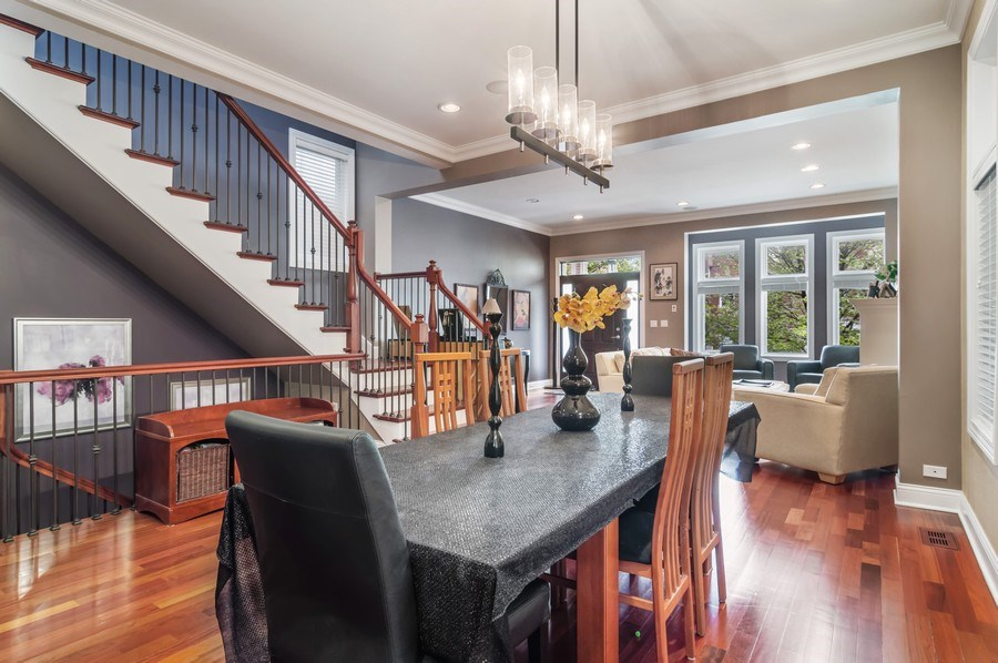 Real Estate Photography - 2606 N Kimball Ave, Chicago, IL, 60647 - Living Room / Dining Room