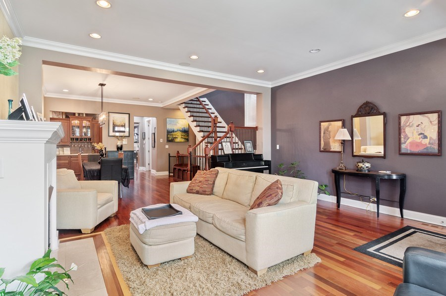 Real Estate Photography - 2606 N Kimball Ave, Chicago, IL, 60647 - Living Room/Dining Room