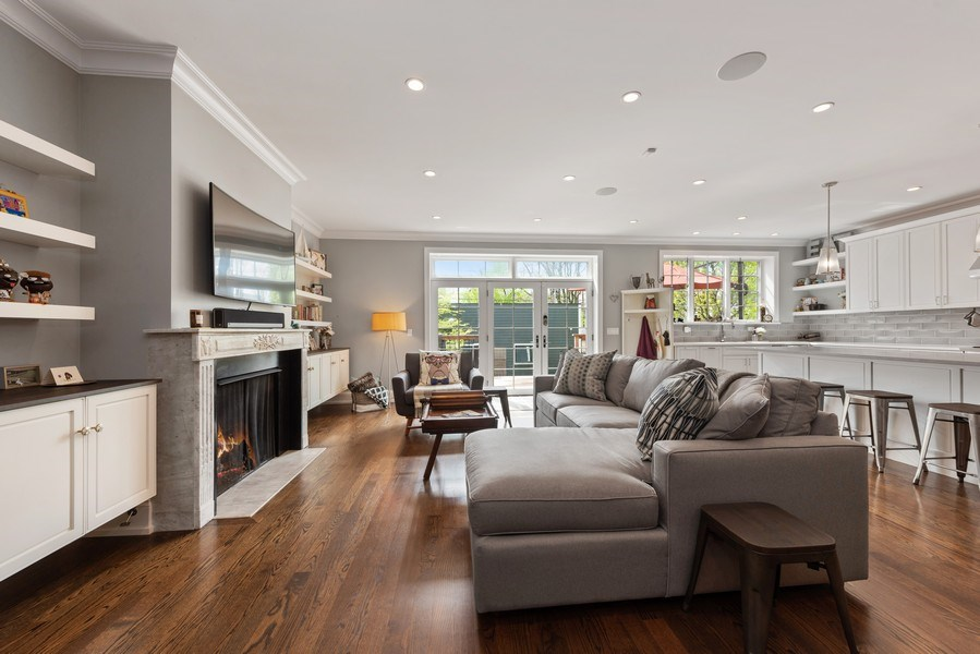 Real Estate Photography - 1842 N Albany, Chicago, IL, 60647 - Living Room