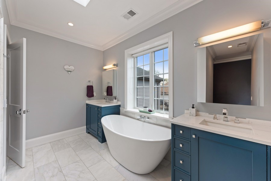 Real Estate Photography - 1842 N Albany, Chicago, IL, 60647 - Master Bathroom