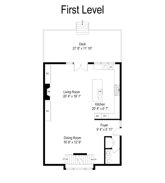 Real Estate Photography - 1842 N Albany, Chicago, IL, 60647 - Floor Plan