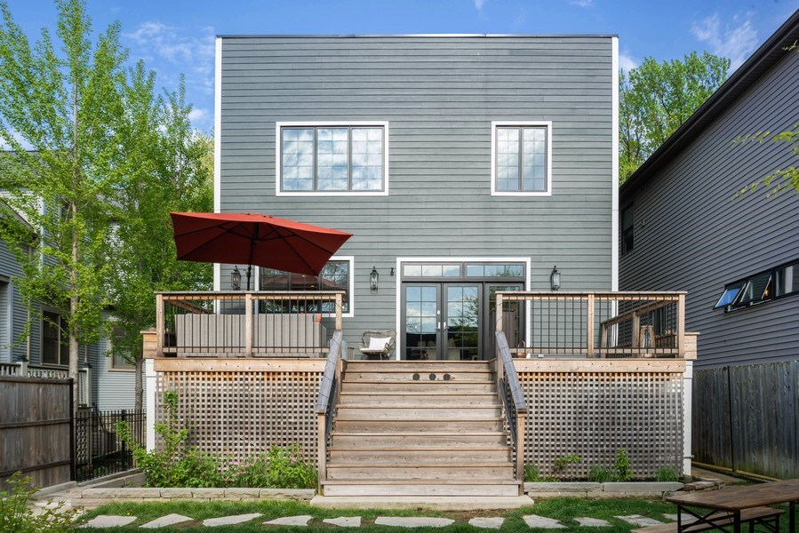 Real Estate Photography - 1842 N Albany, Chicago, IL, 60647 - Rear View