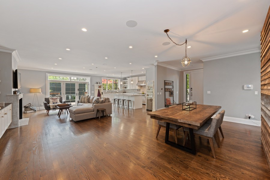 Real Estate Photography - 1842 N Albany, Chicago, IL, 60647 - Living Room / Dining Room