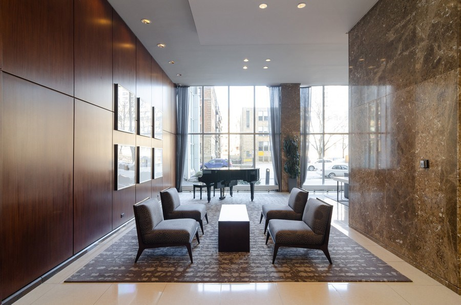 Real Estate Photography - 655 Irving Park, Unit 5104, Chicago, IL, 60613 - Lobby