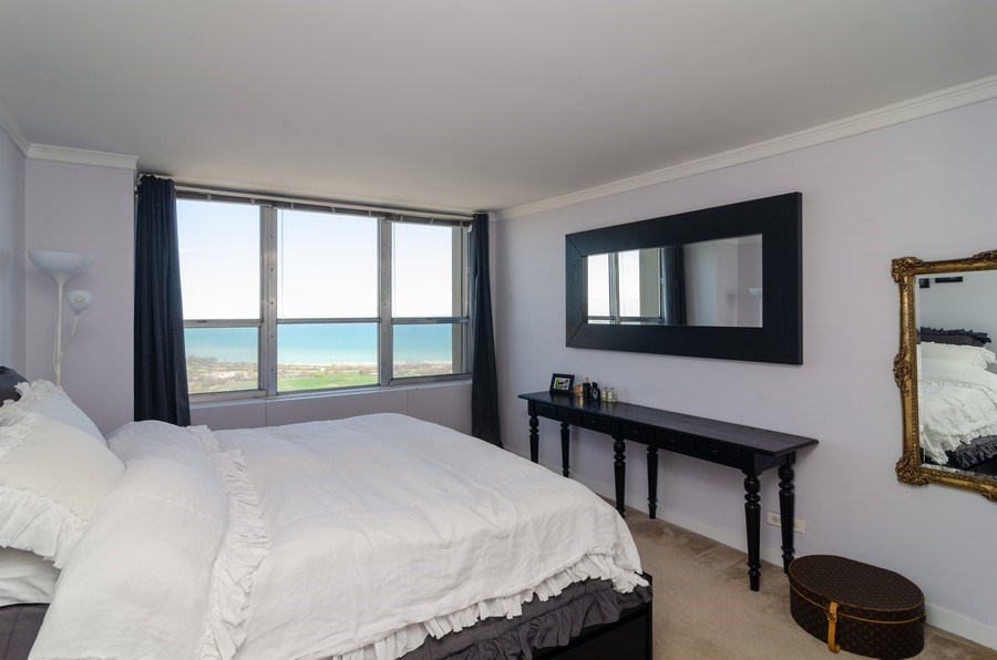 Real Estate Photography - 655 Irving Park, Unit 5104, Chicago, IL, 60613 - Bedroom