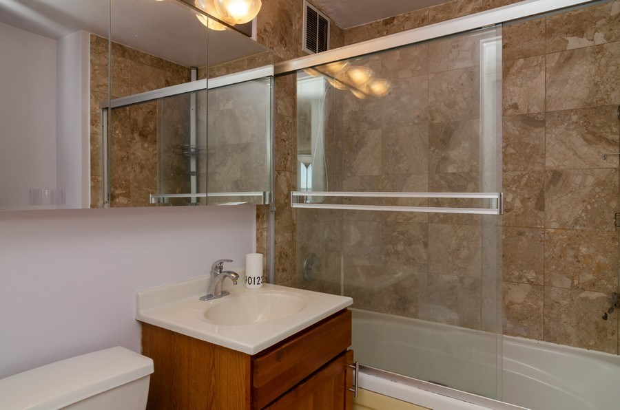 Real Estate Photography - 655 Irving Park, Unit 5104, Chicago, IL, 60613 - Bathroom